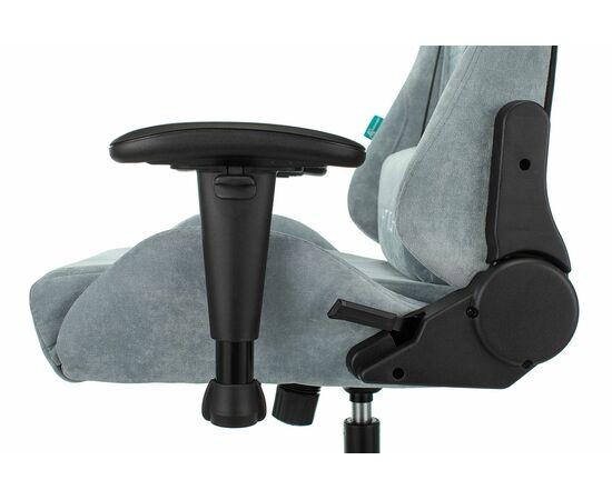 Игровое кресло Бюрократ Zombie VIKING KNIGHT Fabric gray-blue Light-28, Вариант цвета: grey/blue фото, изображение 13