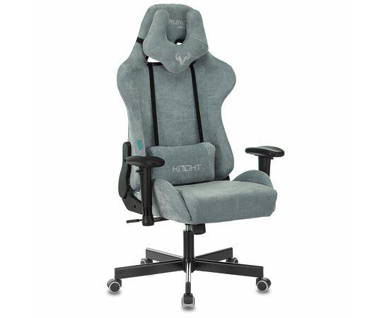 Игровое кресло Бюрократ Zombie VIKING KNIGHT Fabric gray-blue Light-28, Вариант цвета: grey/blue фото, изображение 2