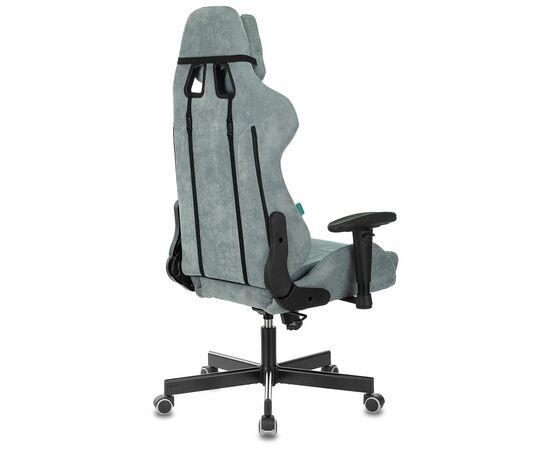 Игровое кресло Бюрократ Zombie VIKING KNIGHT Fabric gray-blue Light-28, Вариант цвета: grey/blue фото, изображение 4