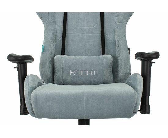 Игровое кресло Бюрократ Zombie VIKING KNIGHT Fabric gray-blue Light-28, Вариант цвета: grey/blue фото, изображение 6