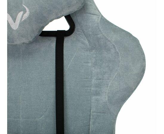 Игровое кресло Бюрократ Zombie VIKING KNIGHT Fabric gray-blue Light-28, Вариант цвета: grey/blue фото, изображение 8