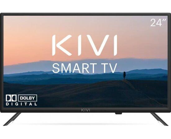 Телевизор Smart 24 дюйма KIVI 24H600KD, черный, изображение 1