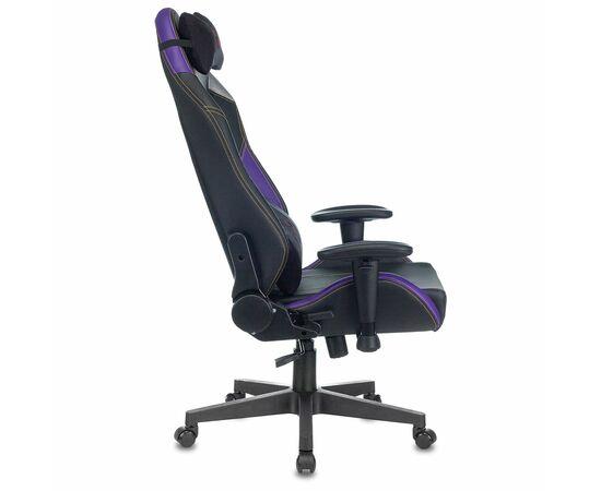 Игровое кресло Бюрократ Zombie HERO JOKER PRO, Вариант цвета: black/violet фото, изображение 5