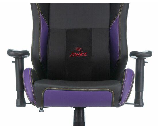 Игровое кресло Бюрократ Zombie HERO JOKER PRO, Вариант цвета: black/violet фото, изображение 6