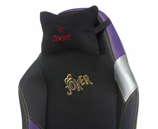 Игровое кресло Бюрократ Zombie HERO JOKER PRO, Вариант цвета: black/violet фото, изображение 9