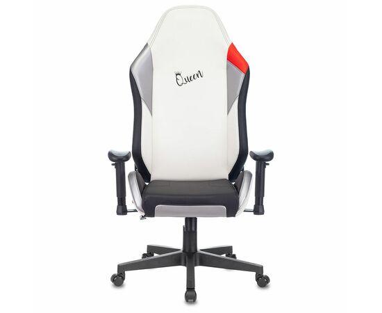 Игровое кресло Бюрократ Zombie HERO QUEEN PRO, Вариант цвета: white/silver фото, изображение 12