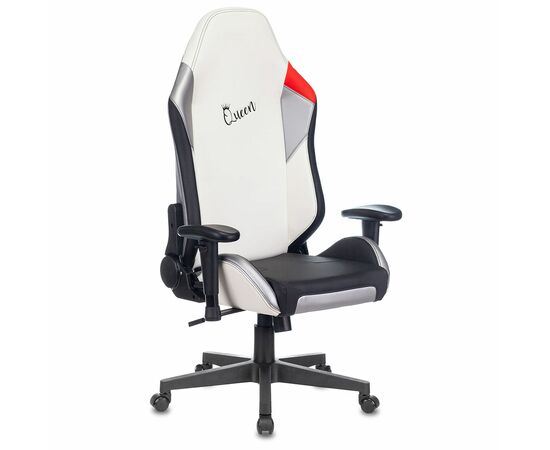 Игровое кресло Бюрократ Zombie HERO QUEEN PRO, Вариант цвета: white/silver фото, изображение 13