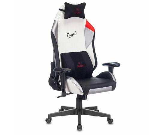 Игровое кресло Бюрократ Zombie HERO QUEEN PRO, Вариант цвета: white/silver фото, изображение 2