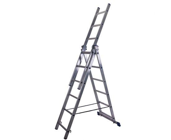 Лестница алюминиевая Stairs AL306 3 секции фото