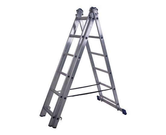 Лестница алюминиевая Stairs AL306 3 секции фото, изображение 2