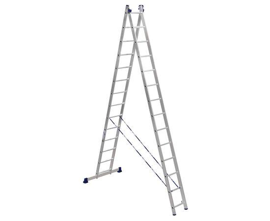 Лестница алюминиевая Stairs AL214 2 секции фото