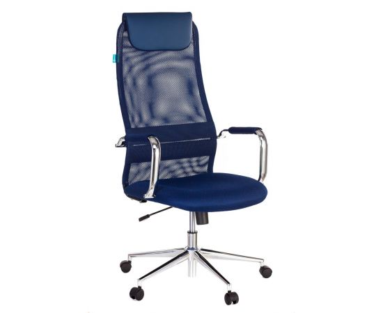 Офисное кресло руководителя Бюрократ KB-9N/DB/TW-10N синий (1140272) фото, изображение 2