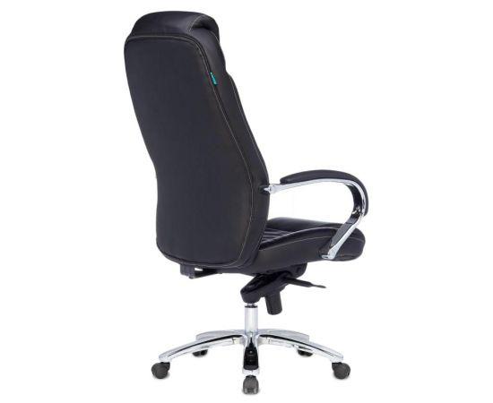Офисное кресло руководителя Бюрократ T-9923SL/BLACK кожа+хром (1122439) фото, изображение 4