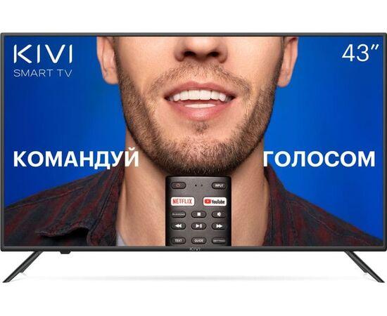 4K UHD Телевизор Smart 43 дюйма KIVI 43U710KB, Google ATV, черный
