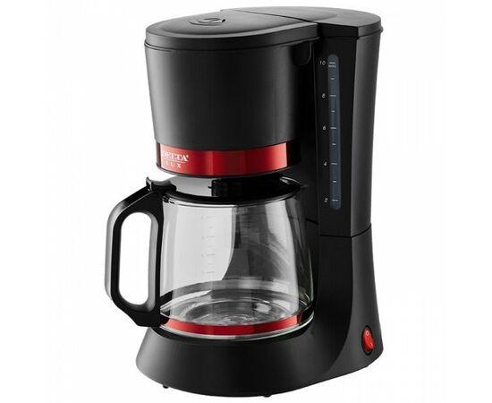 Кофеварка капельная DELTA LUX DL-8152 черная/красная фото