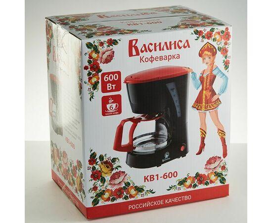 Кофеварка капельная Василиса КВ1-600 черная/красная фото, изображение 2