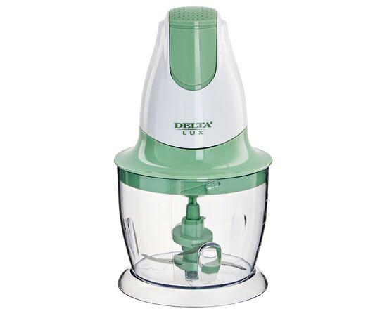 Измельчитель DELTA LUX DL-7417 белый/зеленый, 300Вт фото
