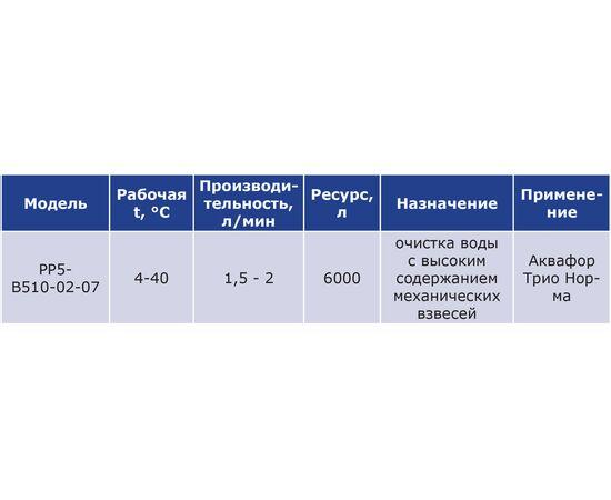 Комплект картриджей Аквафор РР5-В510-02-07 фото, изображение 5