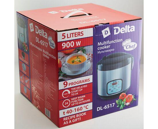 Мультиварка DELTA DL-6517  черная,5л,9пр+книга рецептов фото, изображение 8