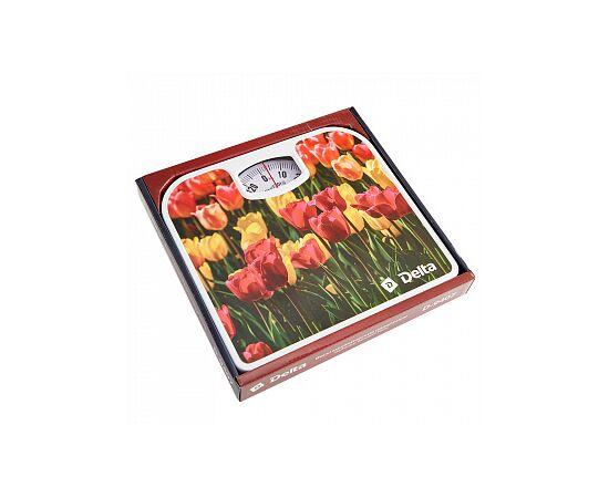 """Весы напольные мех.DELTA D-9407 """"Тюльпаны"""" фото, изображение 2"""