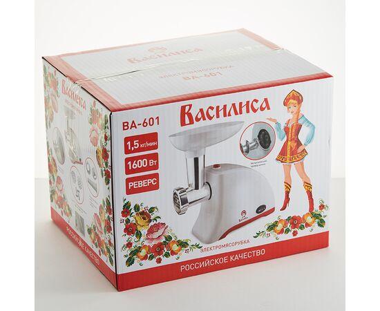 Мясорубка Василиса ВА-601 белая/красная, 1600Вт фото, изображение 3