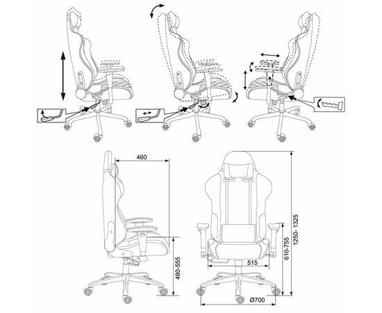 Игровое кресло Бюрократ 771/BLACK+BL (375545) фото, изображение 6
