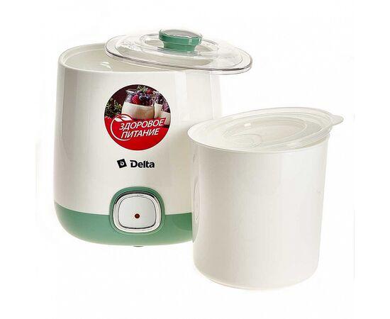 Йогуртница DELTA DL-8400 белая/серо-зеленая фото, изображение 2
