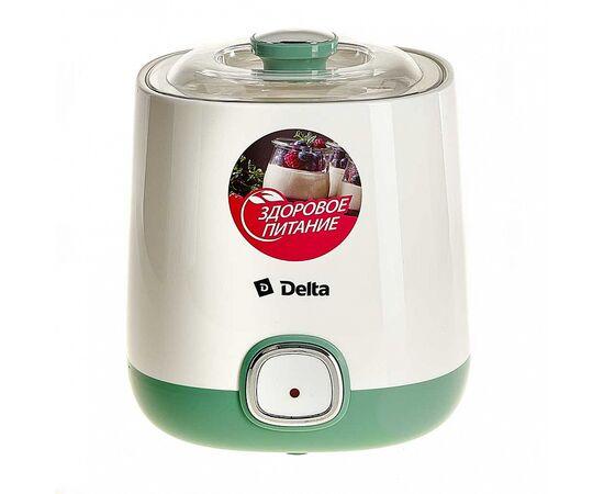 Йогуртница DELTA DL-8400 белая/серо-зеленая фото