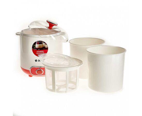 Йогуртница DELTA DL-8401 белая/розвая фото, изображение 2