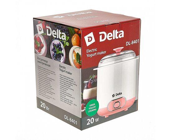Йогуртница DELTA DL-8401 белая/розвая фото, изображение 6