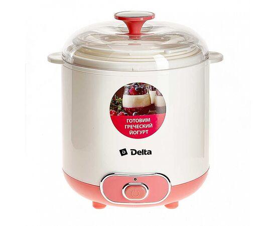 Йогуртница DELTA DL-8401 белая/розвая фото