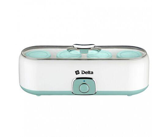 Йогуртница DELTA DL-8402 белая/серо-зеленая фото, изображение 3
