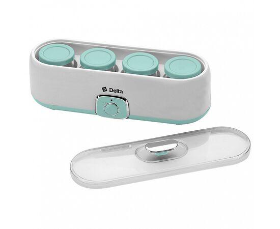 Йогуртница DELTA DL-8402 белая/серо-зеленая фото, изображение 4