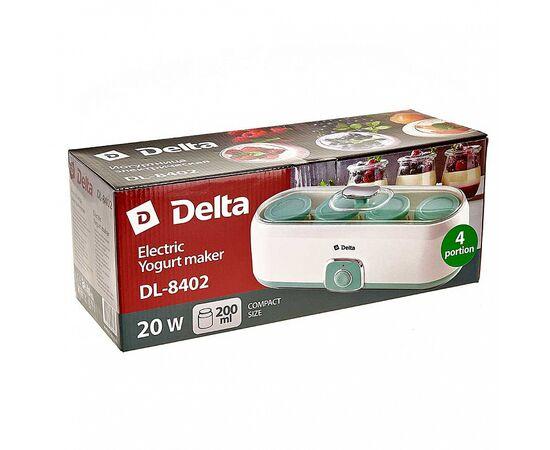 Йогуртница DELTA DL-8402 белая/серо-зеленая фото, изображение 5