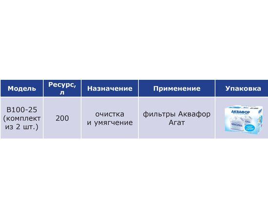Комплект картриджей Аквафор В25 (В100-25) Максфор 2шт фото, изображение 4