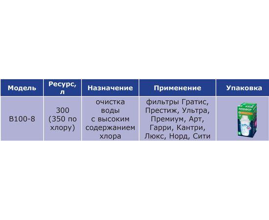 Комплект картриджей Аквафор В8 (В-100/8) 2шт фото, изображение 3
