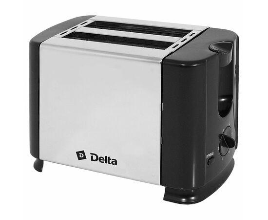 Тостер DELTA DL-61 черный нерж фото