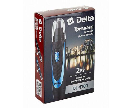 Триммер DELTA DL-4300 черный с синим фото, изображение 4