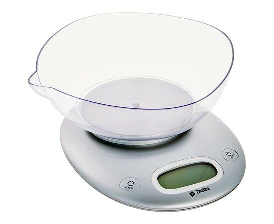Весы кухонные DELTA КСЕ-34 серебро фото