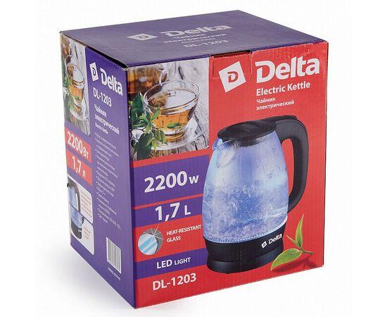 Эл.чайник DELTA DL-1203 черный фото, изображение 2