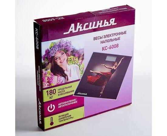 Весы напольные электронные Аксинья КС-6008 Балет фото, изображение 2