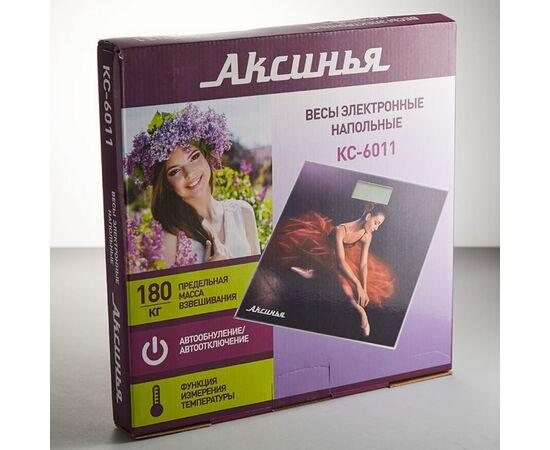 Весы напольные электронные Аксинья КС-6011 Балерина фото, изображение 2