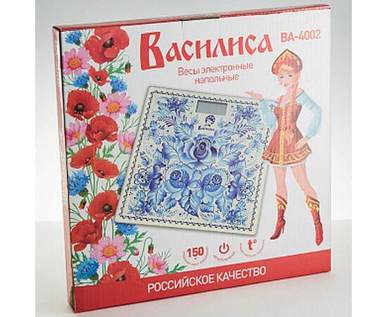 Весы напольные электронные Василиса ВА-4002 Гжель фото, изображение 2