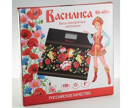 Весы напольные электронные Василиса ВА-4004 Русские узоры фото, изображение 2